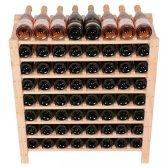 Vinreol ELIZA træ 64 flasker