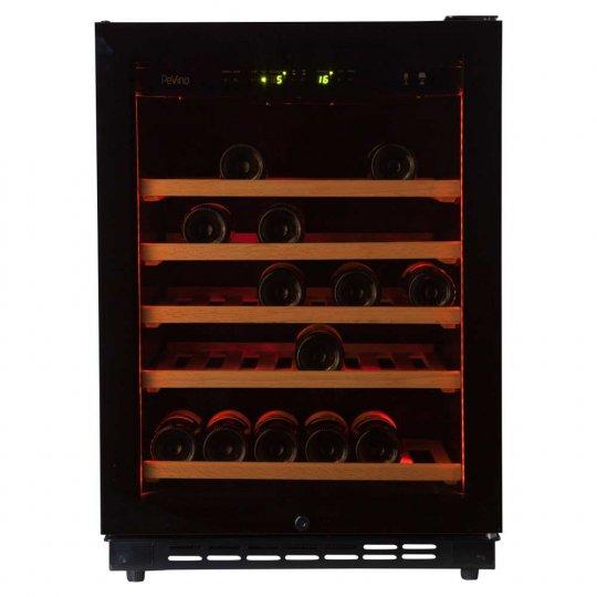Pevino EVO 46 bottles - Single zone - Black glass front