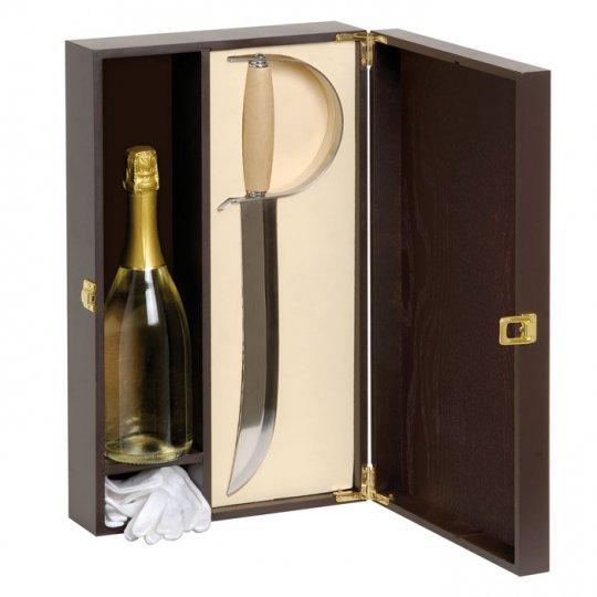 Gaveæske m. flot champagnesabel til champagne
