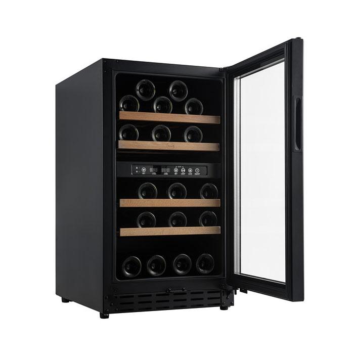 Vinobox - Vinskab - 2 kølezoner til 32 flasker - vinkøleskab med to zoner