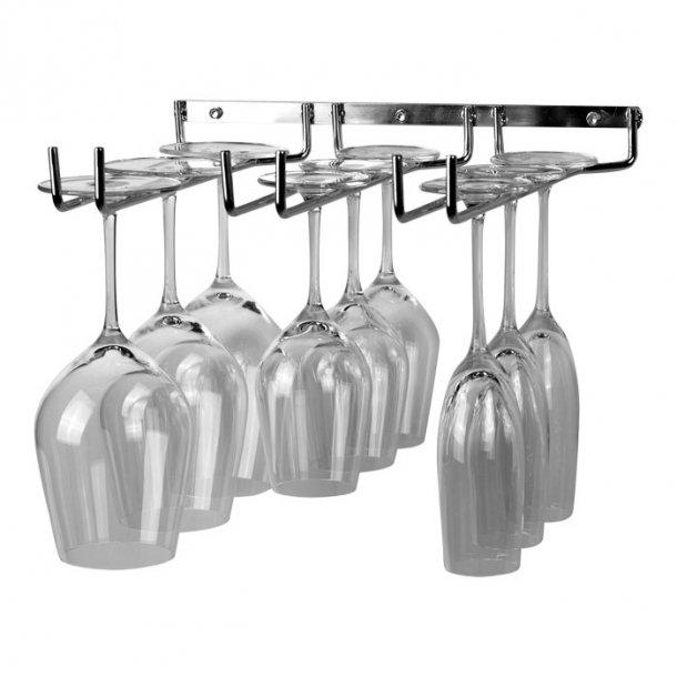 Vinglassholder - 3 rader - Vegg