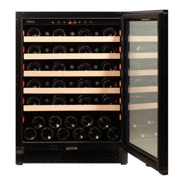 Pevino NG 46 flasker - 1 kjølesone - Svart glasfront